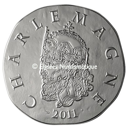 10 euro France 2011 argent BE - Charlemagne Avers