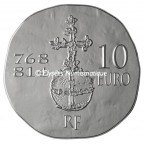 10 euro France 2011 argent BE - Charlemagne Revers