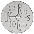 10 euro France 2011 argent BE - Charles II dit Le Chauve Revers