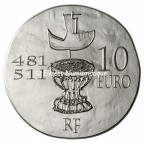 10 euro France 2011 argent BE - Clovis Revers