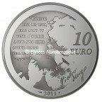 10 euro France 2011 argent BE - Cosette Revers