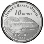10 euro France 2011 argent BE - Gare de Metz Revers