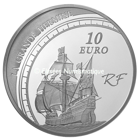 10 euro France 2011 argent BE - Jacques Cartier Revers