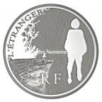 10 euro France 2011 argent BE - L'Etranger Avers