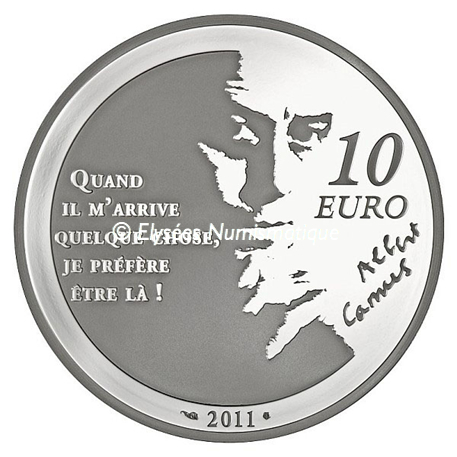 10 euro France 2011 argent BE - L'Etranger Revers