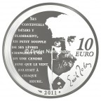 10 euro France 2011 argent BE - Nana Revers