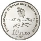 10 euro France 2012 argent BE - Abbé Pierre Revers