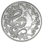 10 euro France 2012 argent BE - Année du Dragon Avers