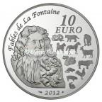 10 euro France 2012 argent BE - Année du Dragon Revers