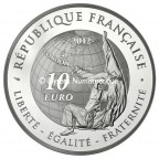 10 euro France 2012 argent BE - Judo Revers