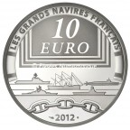 10 euro France 2012 argent BE - La Jeanne d'Arc Revers