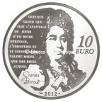 10 euro France 2012 argent BE - Le Chat Botté Revers
