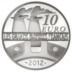 10 euro France 2012 argent BE - Le France Revers