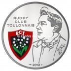 10 euro France 2012 argent BE - Rugby Club Toulonnais Avers
