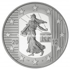 10 euro France 2012 argent BE - Semeuse Avers