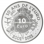 10 euro France 2012 argent BE - Semeuse Revers
