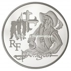 10 euro France 2012 argent BE - d'Artagnan Avers
