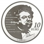 10 euro France 2012 argent BE - d'Artagnan Revers