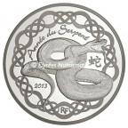 10 euro France 2013 argent BE - Année du Serpent Avers