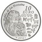 10 euro France 2013 argent BE - Année du Serpent Revers