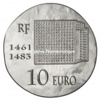 10 euro France 2013 argent BE - Louis XI Revers