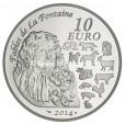 10 euro France 2014 argent BE - Année du Cheval Revers