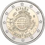 2 euro commémorative Espagne 2012 - 10 ans de l'euro fiduciaire