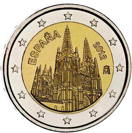 2 euro commémorative Espagne 2012 - Cathédrale de Burgos