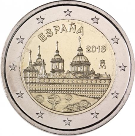 2 euro commémorative Espagne 2013 - Monastère de l'Escurial