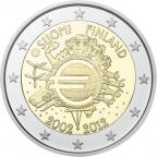 2 euro commémorative Finlande 2012 - 10 ans de l'euro fiduciaire