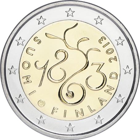 2 euro commémorative Finlande 2013 - 150 ans du Parlement