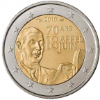 2 euro commémorative France 2010 - De Gaulle