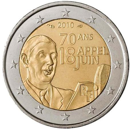 2 euro commémorative France 2010 - De Gaulle