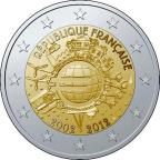 2 euro commémorative France 2012 - 10 ans de l'euro fiduciaire