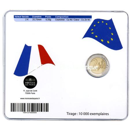 2 euro commémorative France 2012 BU - 10 ans de l'euro fiduciaire Verso