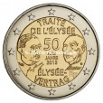 2 euro commémorative France 2013 BU - Traité de l'Elysée Avers
