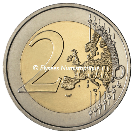 2 euro commémorative France 2013 BU - Traité de l'Elysée Revers