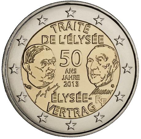 2 euro commémorative France 2013 - Traité de l'Elysée