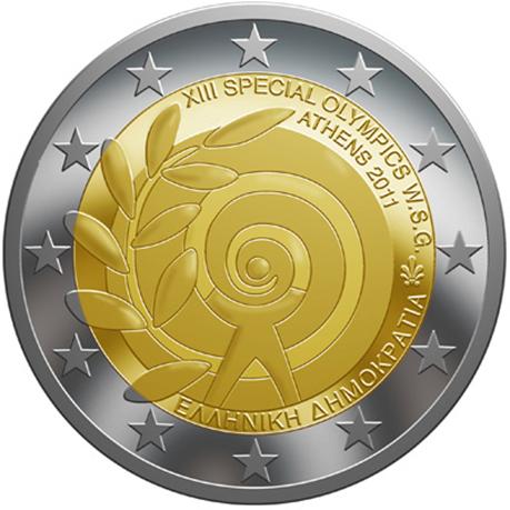 2 euro commémorative Grèce 2011 - Jeux Olympiques spéciaux d'été