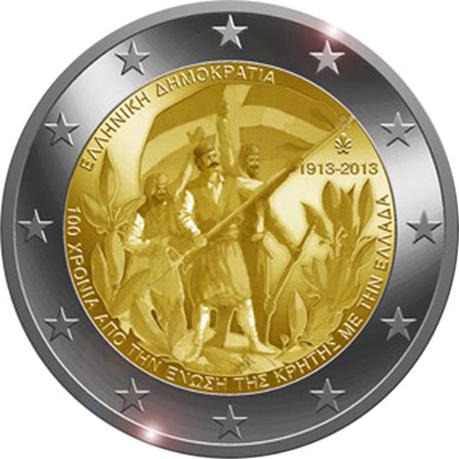 2 euro commémorative Grèce 2013 - Annexion de la Crète