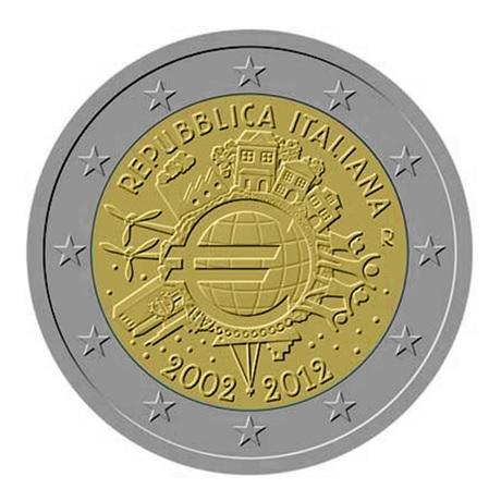 2 euro commémorative Italie 2012 - 10 ans de l'euro fiduciaire