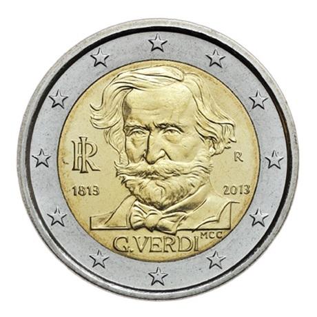 2 euro commémorative Italie 2013 - Verdi