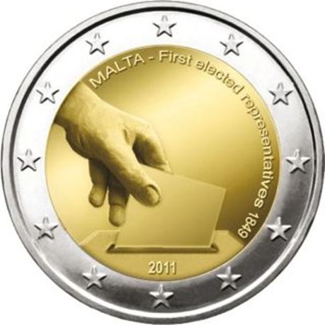 2 euro commémorative Malte 2011 - Election des premiers représentants maltais en 1849