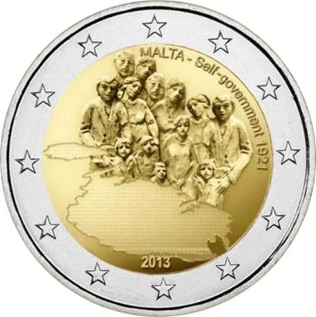 2 euro commémorative Malte 2013 - Autonomie gouvernementale