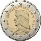 2 euro commémorative Monaco 2012 - Lucien Ier