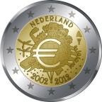 2 euro commémorative Pays-Bas 2012 - 10 ans de l'euro fiduciaire