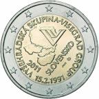 2 euro commémorative Slovaquie 2011 - 20ème anniversaire du groupe de Visegrad