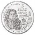 5 euro France 2010 argent BU - Année du Tigre Revers