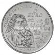 5 euro France 2011 argent BU - Année du Lapin Revers