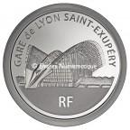 50 euro France 2012 argent BE - Gare de Lyon Saint-Exupéry Avers